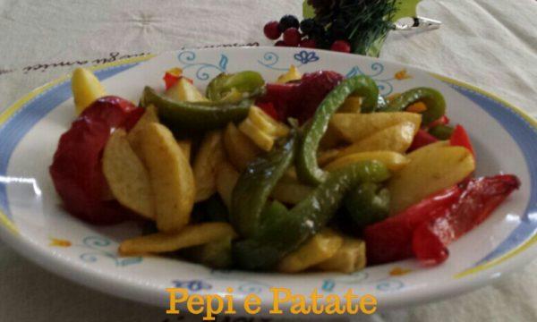 Peperoni e patate in padella