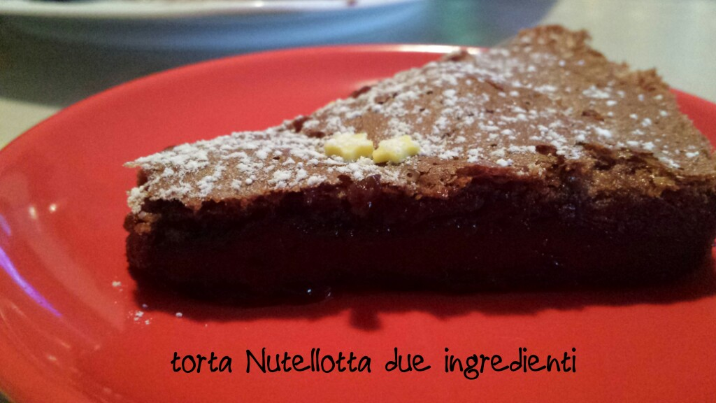 Torta Nutellotta ai due ingredienti