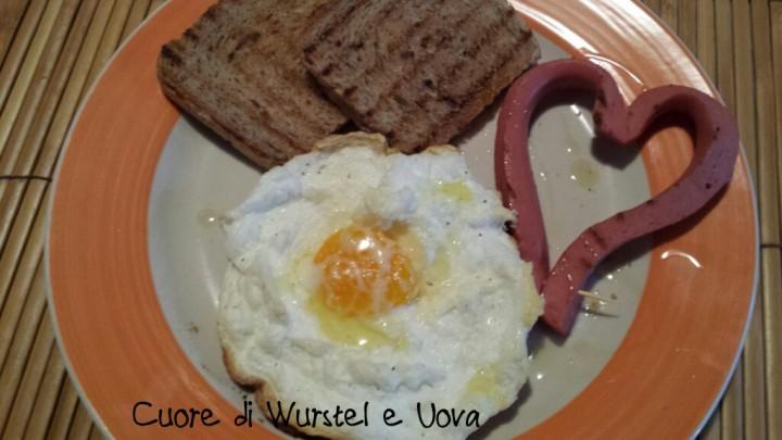 cuori di wurstel e uova