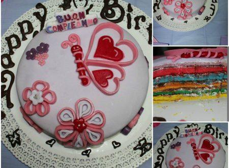 Rainbow Cake per il mio compleanno 01/02/2015 :)