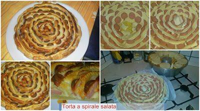 Torta salata a Spirale con wurstel patate e mozzarella