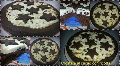 Crostata al cacao con ricotta e gocce di cioccolato bimby e non …