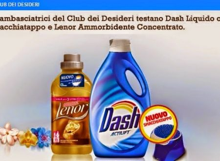 Dash Liquido con Smacchiatappo e Lenor Ammorbidente Concentrato la coppia perfetta per un bucato impeccabile già al primo lavaggio!!!