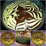 Torta fiore zebrata