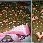 Torta pan di stelle romantica