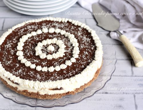 Ricetta Cheesecake panna cocco e nutella