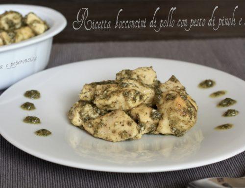 Ricetta bocconcini di pollo con pesto di pinoli e salvia