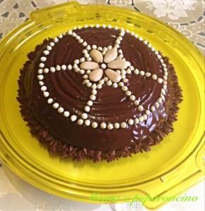 Ricetta Parrozzo farcito _ Torte decorate per le feste natalizie