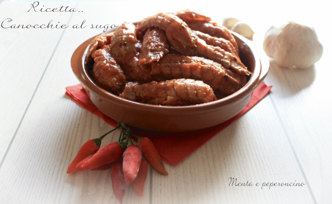 Ricetta Canocchie al sugo