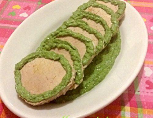 Ricetta Vitello con salsa di spinaci