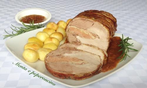 Ricetta lonza di maiale avvolta con la pancetta