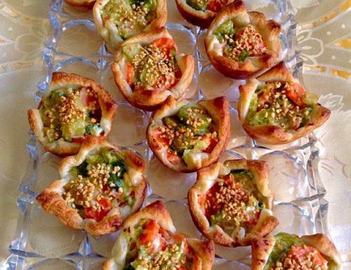 Ricetta Cestini di pasta sfoglia con sfiziose verdure