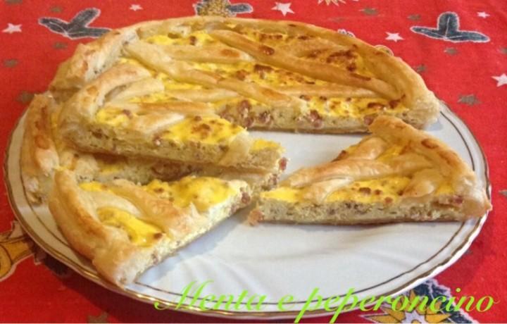 Ricetta Crostata rustica con ricotta e salame