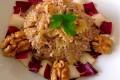 Ricetta Farfalle con crema al formaggio radicchio e noci