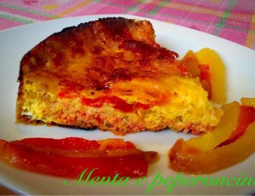 Ricetta Frittata al pomodoro con peperoni e mozzarella