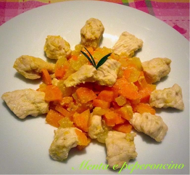 Ricetta Tacchino al profumo di arancia con mele e carote