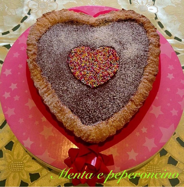 Ricetta Cuor di frolla con mousse al cioccolato