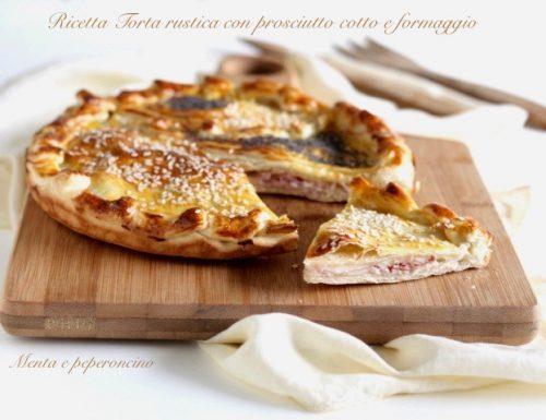 Ricetta Torta rustica con prosciutto cotto e formaggio