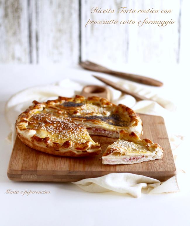 Ricetta Torta rustico con prosciutto cotto e formaggio