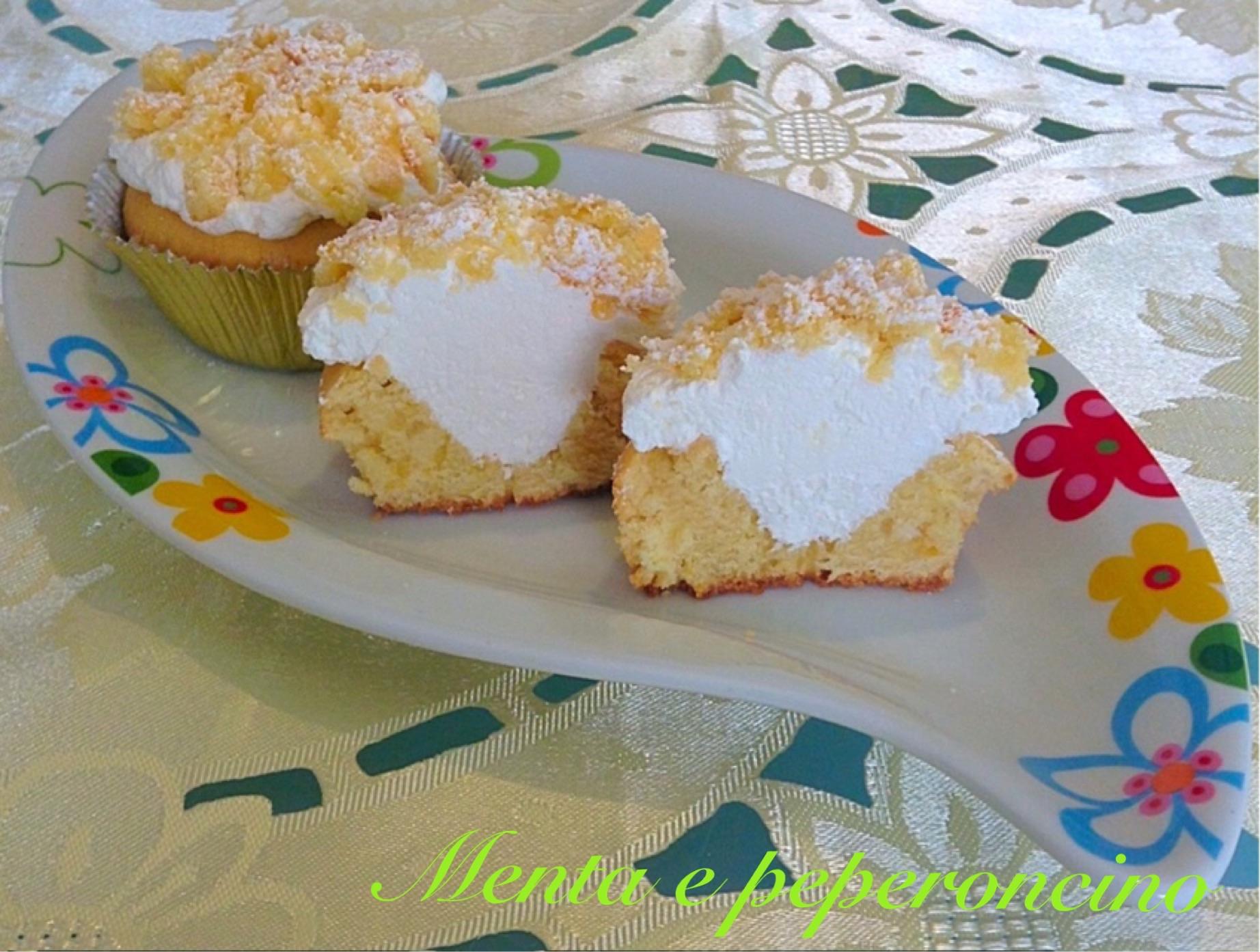 Ricetta Cipcake mimosa al limone con panna