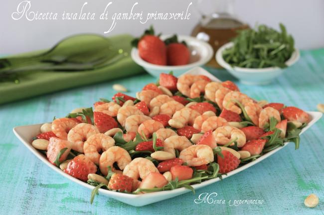 Ricetta insalata di gamberi primaverile