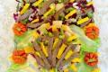 Ricetta straccetti di carne con insalata