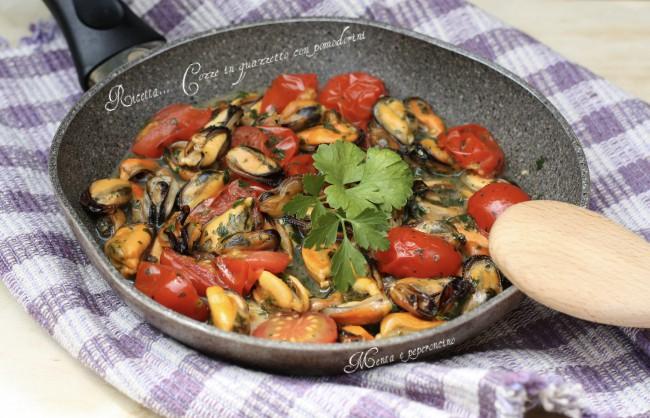 Ricetta Cozze on guazzetto con pomodorini