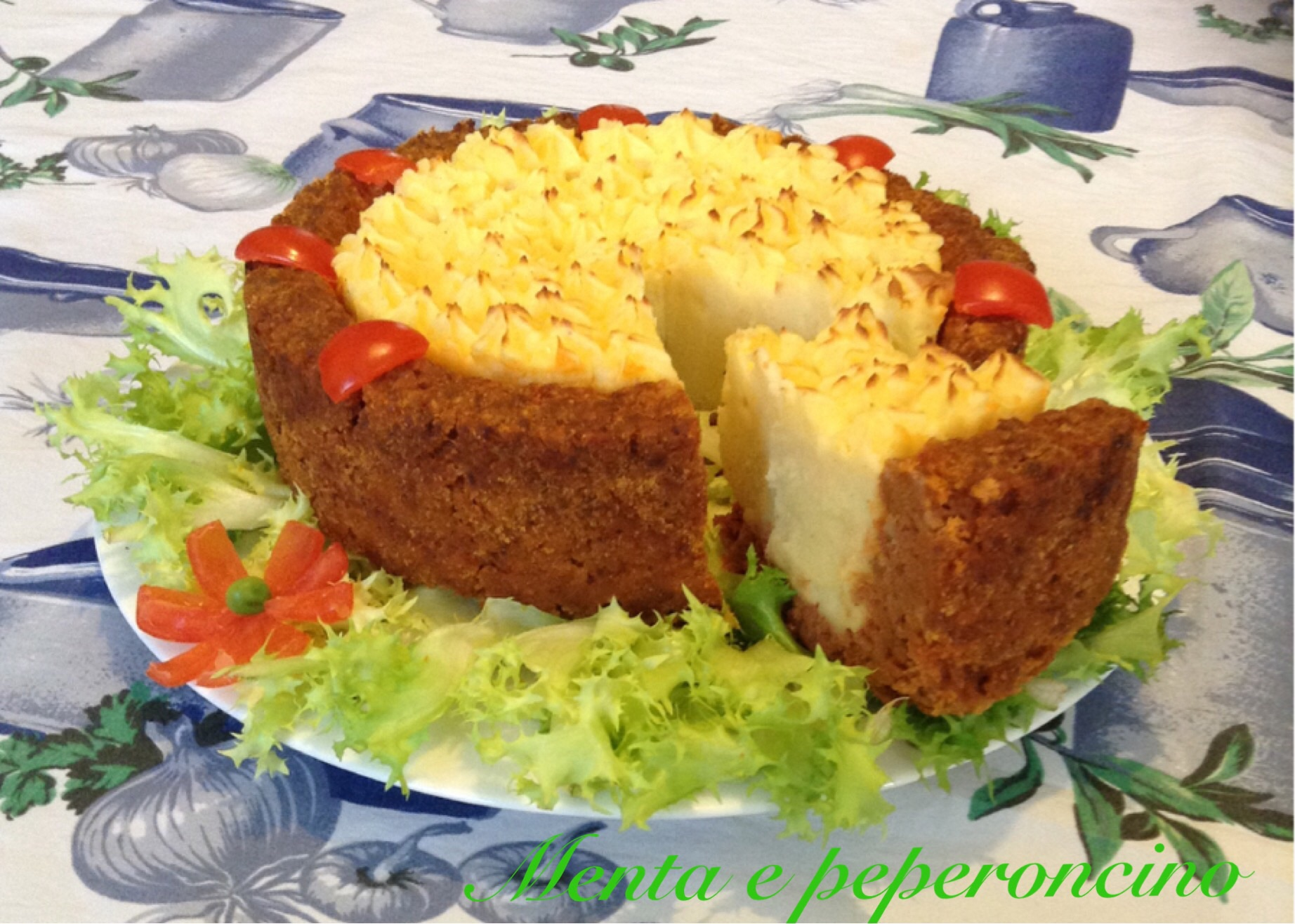 Ricetta torta di carne macinata e patate secondi di carne for Ricette primi piatti di carne