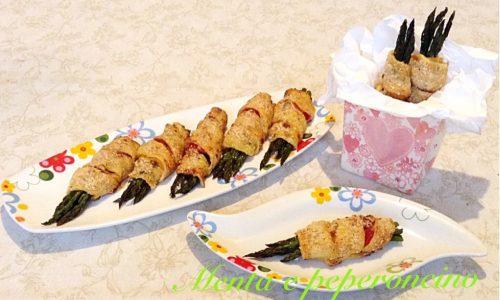 Ricetta asparagi avvolti nei peperoni e brisè