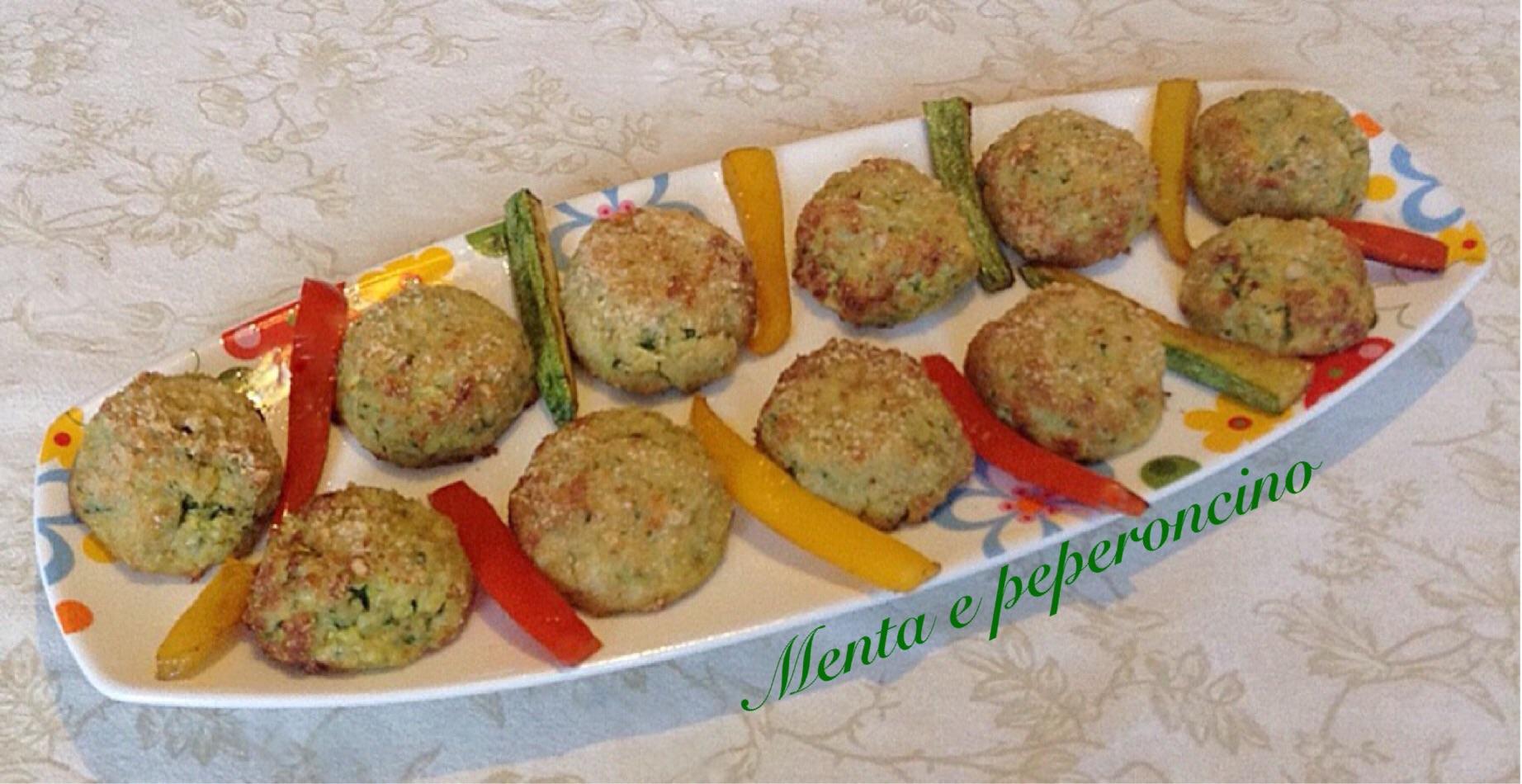 Polpette di zucchine con panatura alla nocciole
