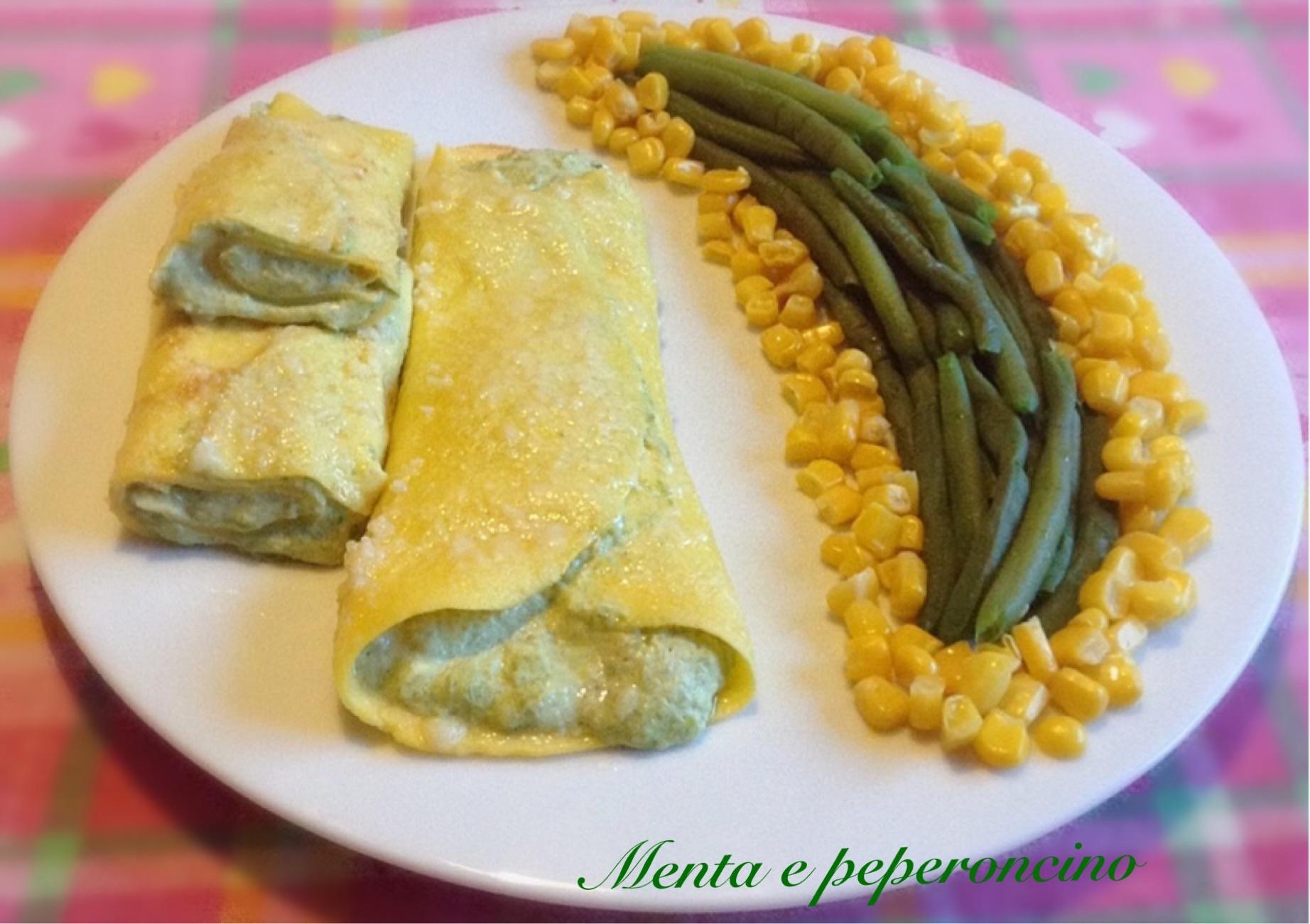 Ricetta Crespelle con crema di fagiolini e nocciole