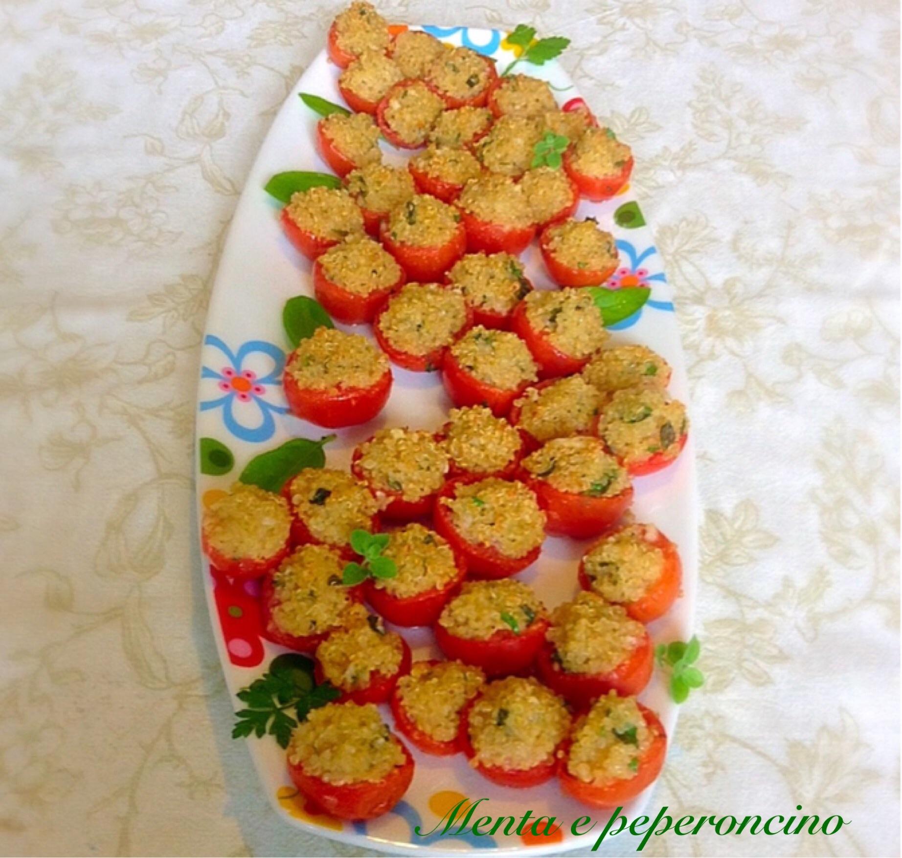 RicettaPomodorini ripieni di quinoa