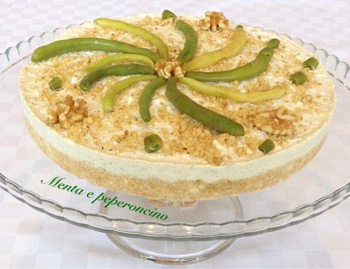 Cheesecake salata con leggero pesto di fagiolini