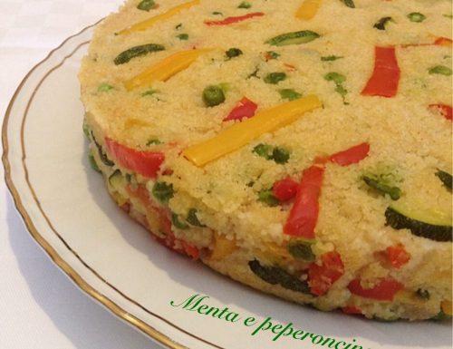 Torta cuscus con verdure