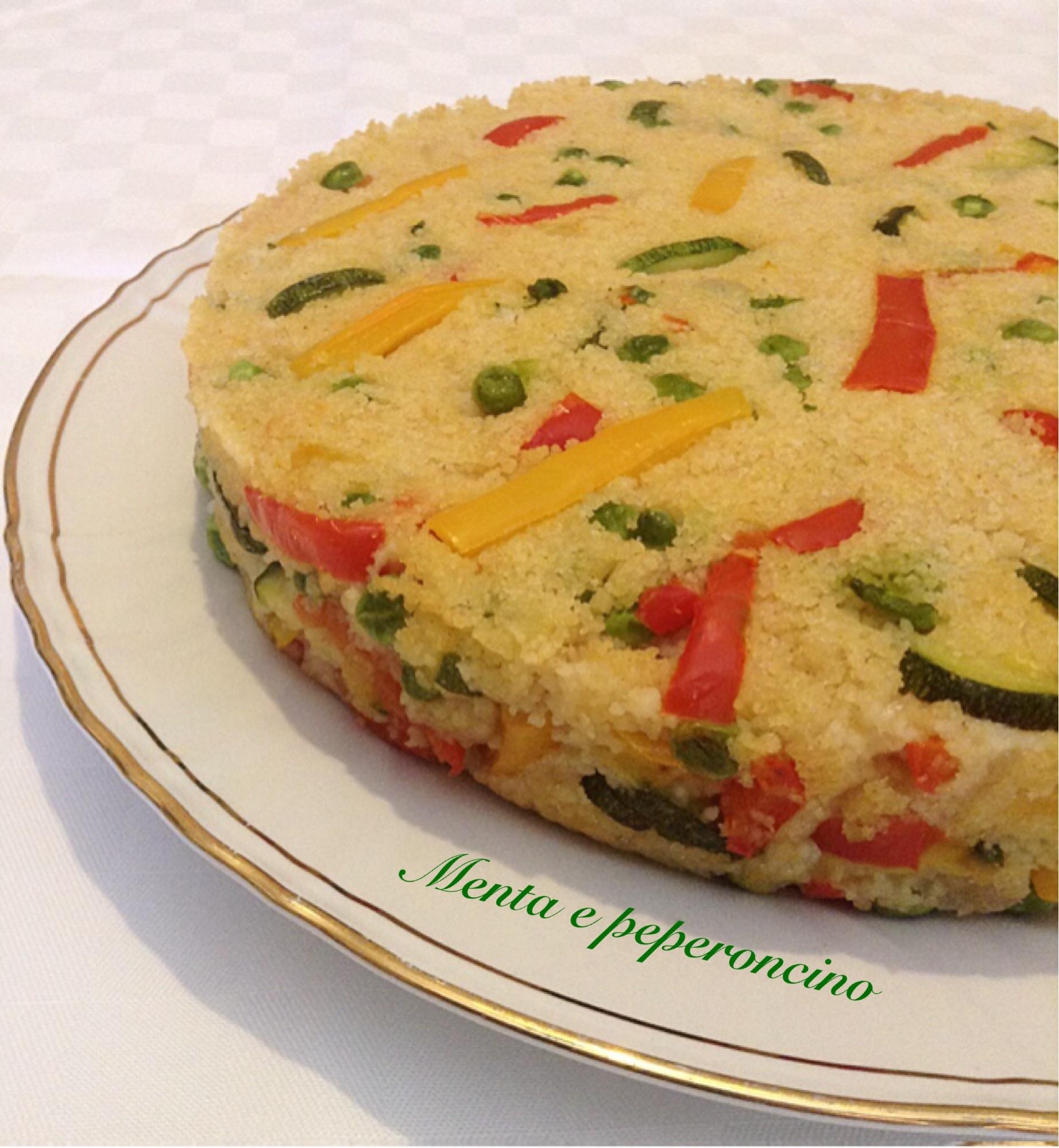 Torta cous cous con verdure