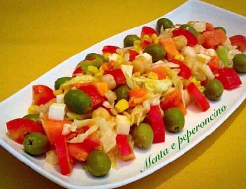 Insalata esotica con papaya