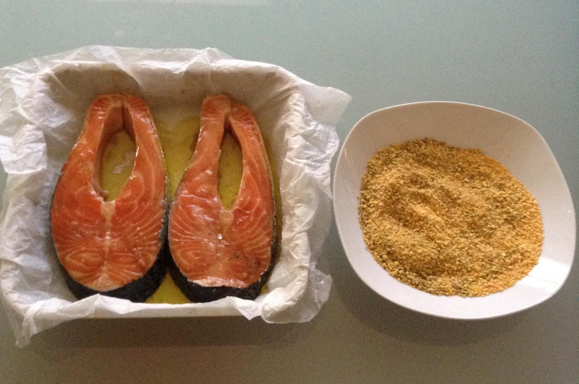 Salmone marinato in crosta croccante secondi di pesce