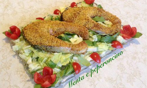 Salmone marinato in crosta croccante