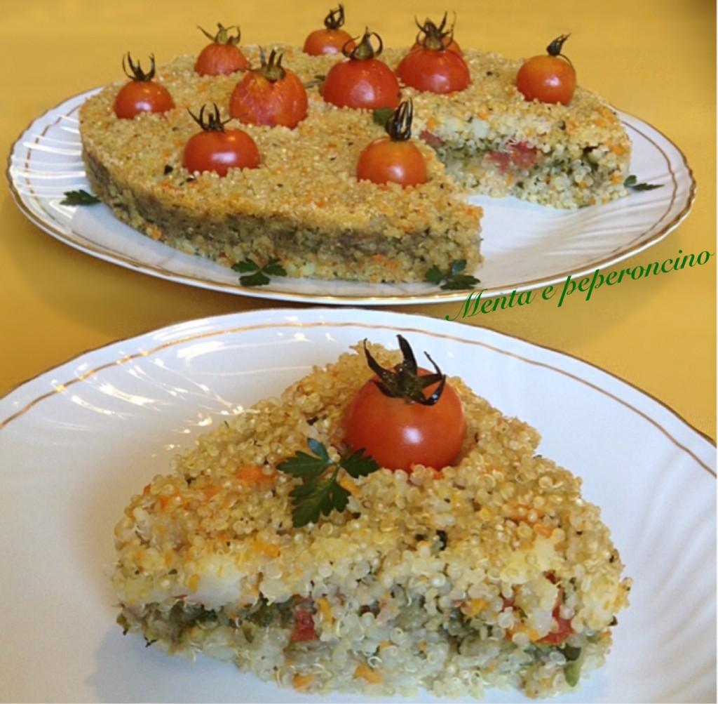 Torta di quinoa e verdure