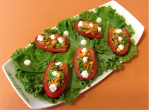 Pomodori ripieni di insalata