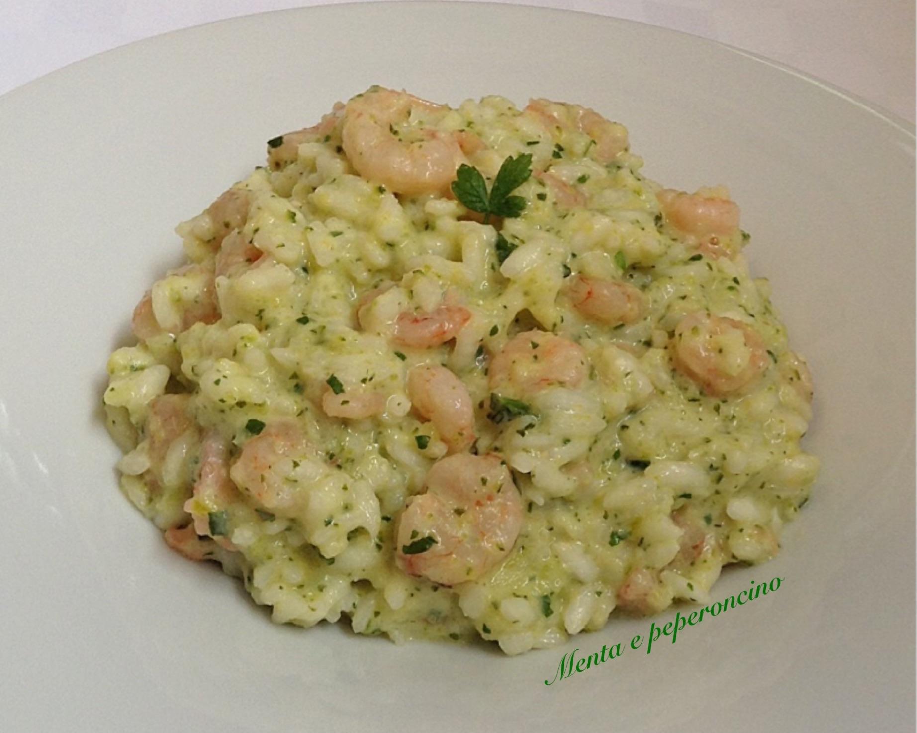 Risotto con crema di zucchine e gamberetti primi piatti for Risotto ricette