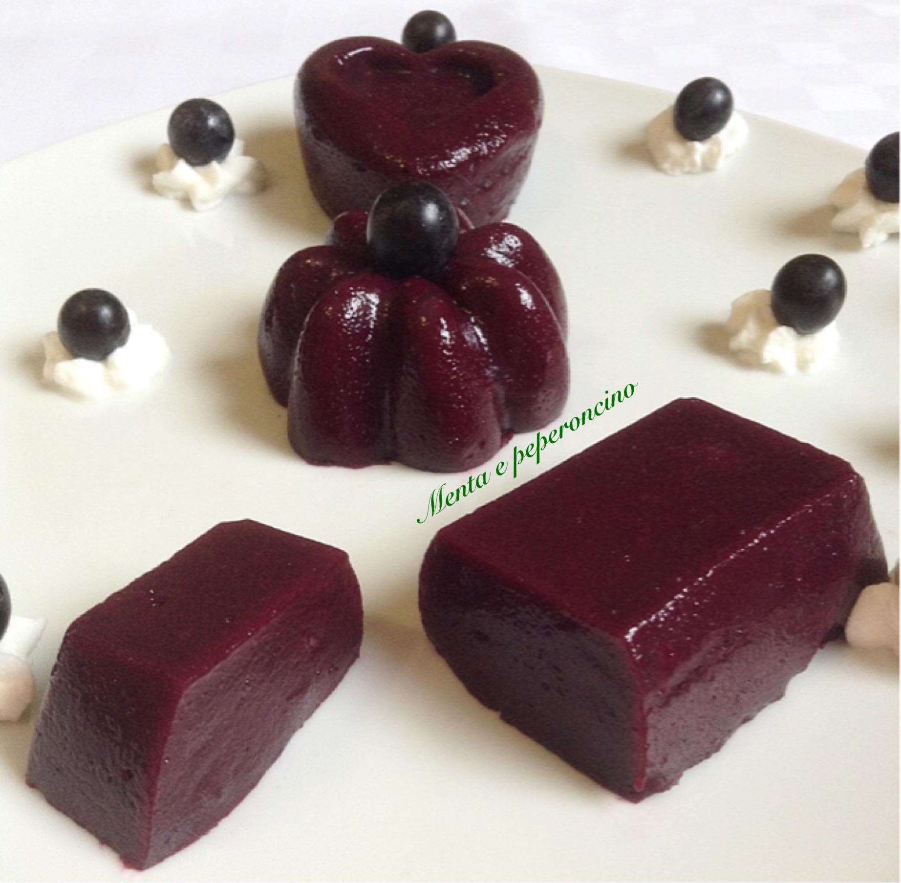 Ricetta dolce uva fragola