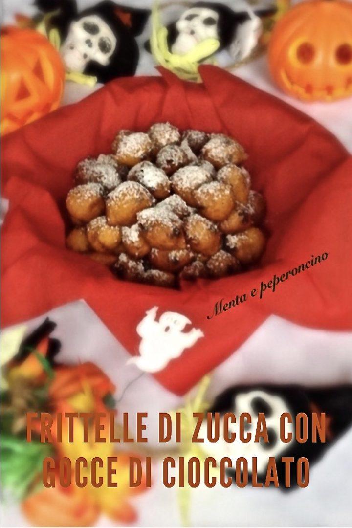 Frittelle di zucca con gocce di cioccolato