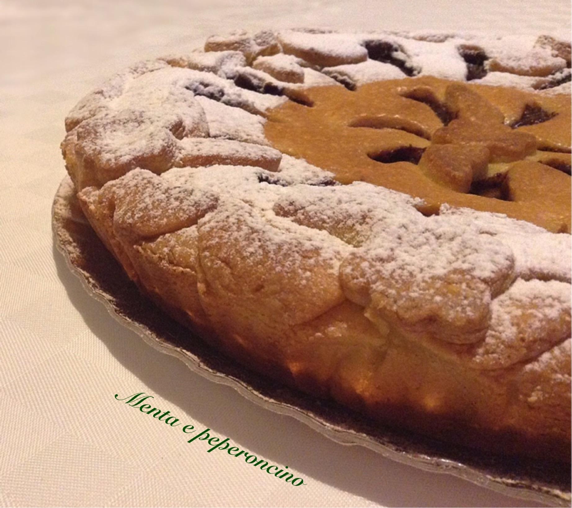 Crostata con crema pasticcera e nutella