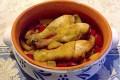 Fusi di pollo e peperoni in agrodolce