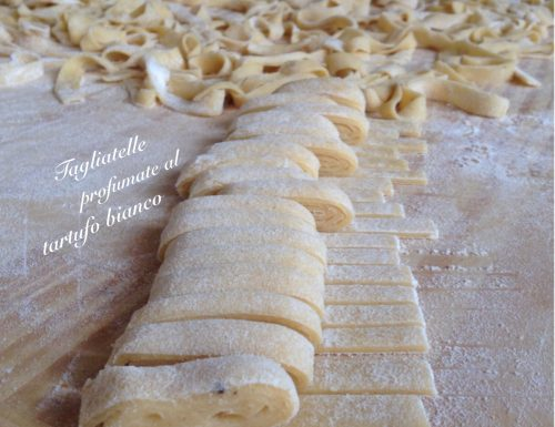 Tagliatelle profumate al tartufo bianco