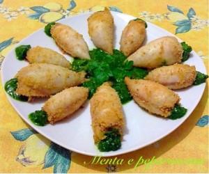 Ricetta Totani ripieni con salsa al prezzemolo