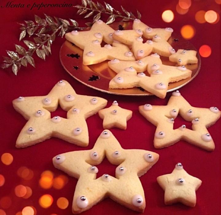 Stelle di Natale in pasta frolla _ Torte decorate per le feste natalizie