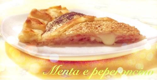 Torta rustica con prosciutto cotto e formaggio
