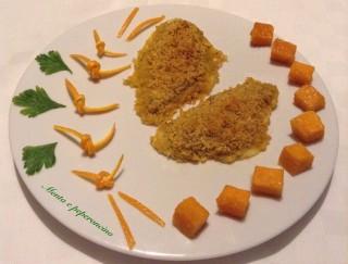 Filetti di platessa all'arancia gratinati